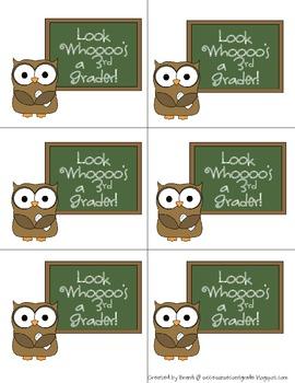 Look Whoooo's a ____ Grader