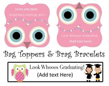Look Whooos Graduating- Editable Graduation Package