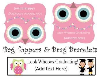 Look Whooos Graduating- Editable Graduation Package