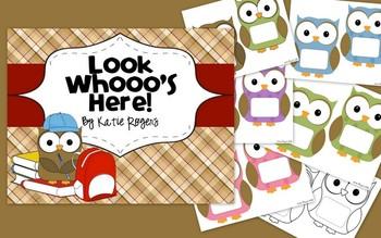 Look Whooos Here - Owl Themed Door Decoration