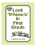 Look Whooo's In First Grade {Back to School Owl Theme All About Me Memory Book}