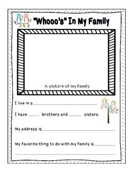 Look Whooo's In Kindergarten  {Back to School Owl Theme Memory Book}