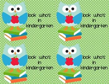 Look Whooos in Kindergarten Welcome Post Card