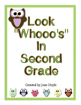 Look Whooo's in Second Grade {Back to School Owl Theme All About Me Memory Book}