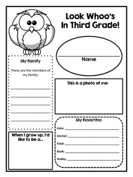 Look Whoo's In …Grade!