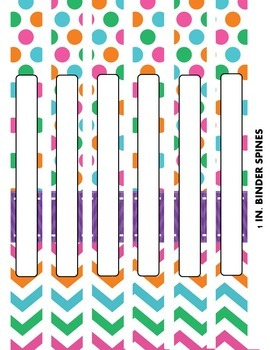 EDITABLE Binder Covers and Spines {with PRINT 2 GO Version}