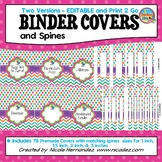 Editable Binder Covers and Spines   with PRINT 2 GO Version