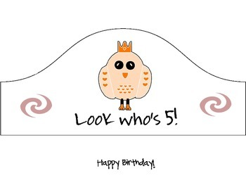 Preschool Birthday Free Hats