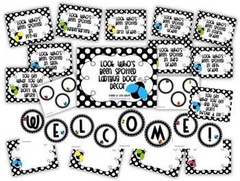 Door Decor: Ladybugs and Polka Dots
