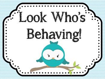 Look Who's Behaving! Behavior Chart