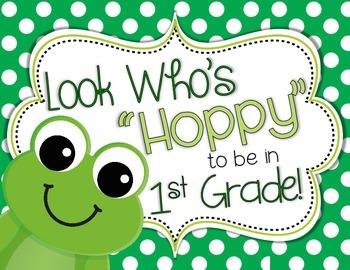 Door Decor: Frog Themed, Look Who's Hoppy to Be in School