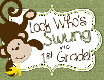 Monkey Door Decor: Look Who's Swung into School