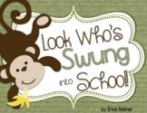 Monkey Door Decor: Look Who's Swung into School