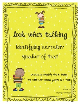 Look Who's Talking ~ Identifying Narrator of Text