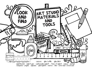 Look and Find - Art Materials Handouts