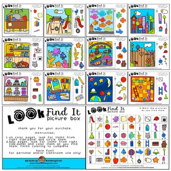 Look and Find It Picture Boxes