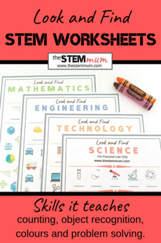 Look and Find STEM worksheets