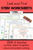 Look and Find STEM worksheets