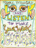 Look and Listen colored poster