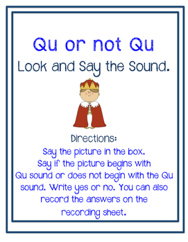 Look and Say the Sound: Qu or Not Qu