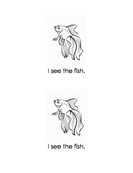 """Look at Fish; an Emergent Reader to complement the FOSS unit """"Animals Two by Two"""