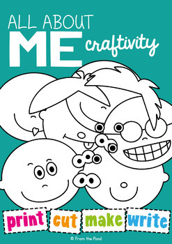 All About Me Activities - Look at Me Craft + Writing