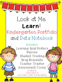 Look at Me Learn Kindergarten Portfolio and Data Notebook