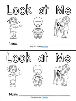 Look at Me- Nonfiction Leveled Reader- Level B Kindergarten