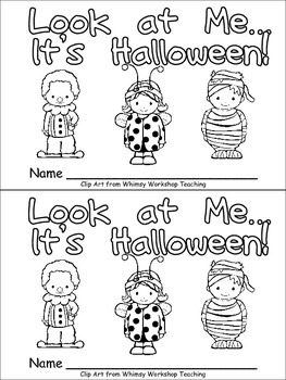 Halloween Emergent Reader for Kindergarten: Look at Me...It's Halloween