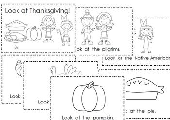 Look at Thanksgiving- Emergent Reader & Word Work