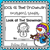Look at that Snowman~ emergent reader