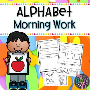 Kindergarten Morning Work Literacy