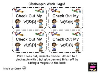 """Look at my work"" Tags"