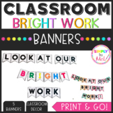Look at our BRIGHT work banner!