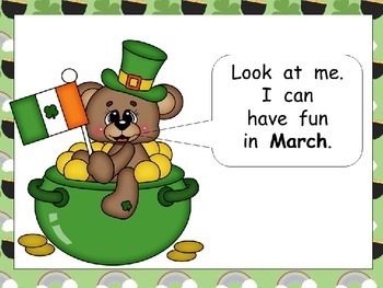 Look at the Bear Throughout the Year Shared Reading for Kindergarten- Months