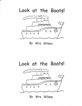 Look at the Boats!  Printable Book