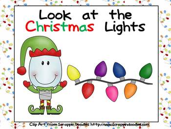 Look at the Christmas Lights Kindergarten Shared Reading PowerPoint