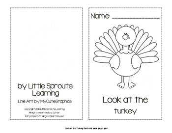 Look at the Turkey Emergent Reader and Color book.
