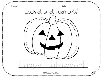 Look at what I can write! Happy Halloween!
