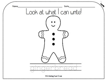 Look at what I can write! gingerbread