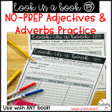 Adjective Practice | Adverb Practice: NO PREP Part of Speech Worksheets; Grammar