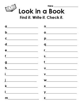 Look in a Book: Alphabet