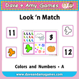Look 'n Match: Colors and Numbers