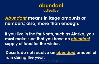 Look to the North Vocabulary Activities/Common Core Aligned