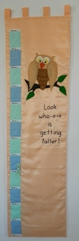 """Look who-o-o- is getting taller!"" Owl Wall Growth and Measurement Chart"