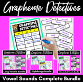 Grapheme Detectives- Differentiated Phonics Word Sort Games