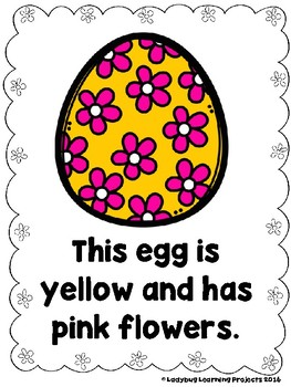 Looking At Easter Eggs  (A Sight Word Emergent Reader and Teacher Lap Book)