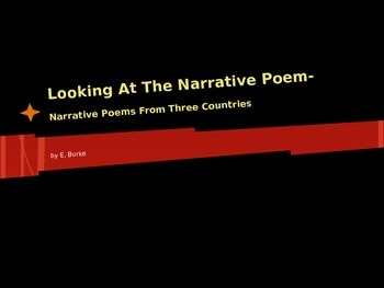 Looking At The Narrative Poem