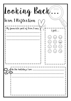 Looking Back - Term and Semester Reflection Templates