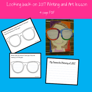 Looking Back on 2017 Writing and Art lesson